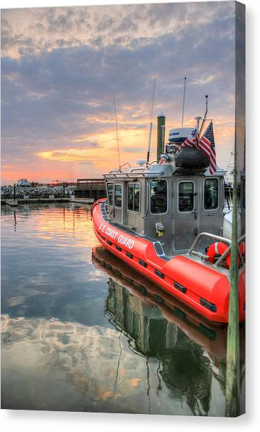 Coast Guard Canvas Print - Coast Guard Anacostia Bolling by JC Findley