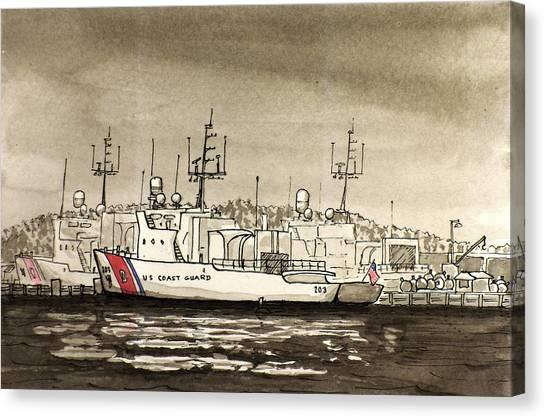 Coast Guard Base Portsmouth Canvas Print