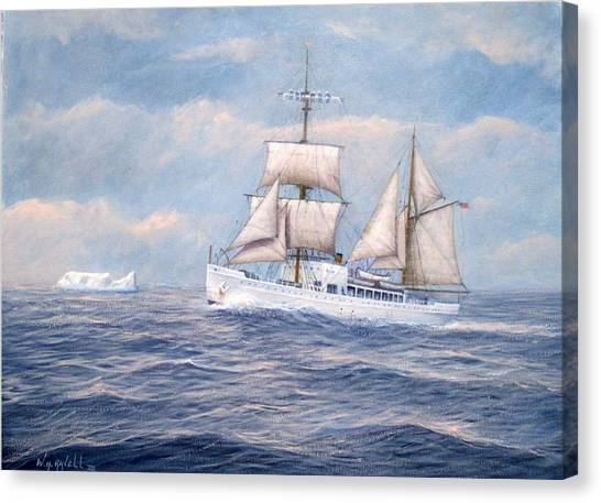 Coast Guard Cutter Northland Canvas Print by William H RaVell III