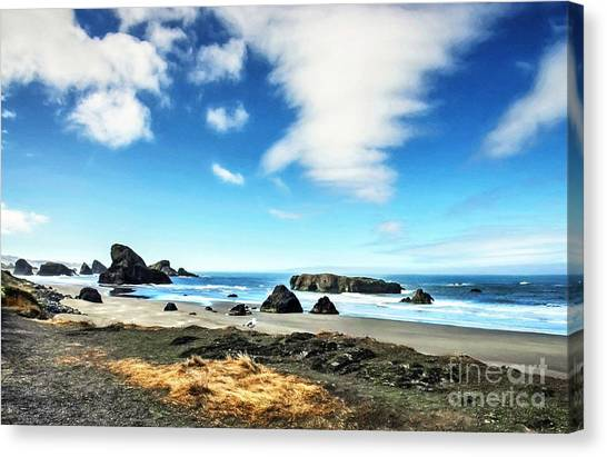 Oregon State Canvas Print - Coast Of Dreams 6 by Mel Steinhauer