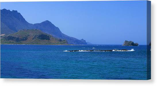 Coast Of Gramvousa Canvas Print
