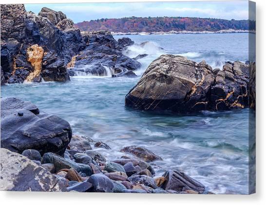 Coast Of Maine In Autumn Canvas Print