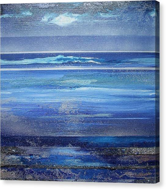 Coast Series Blue Am6 Canvas Print by Mike   Bell