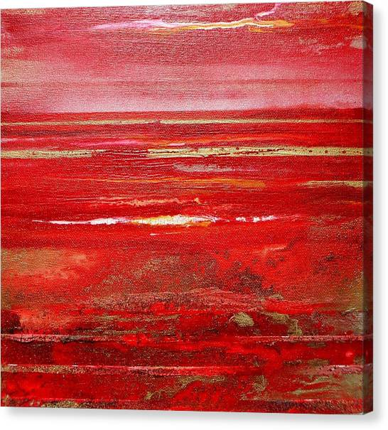 Coast Series Red Am8 Canvas Print by Mike   Bell