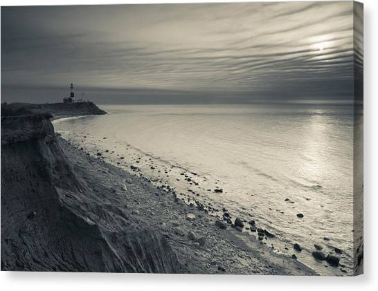 Ocean Cliffs Canvas Print - Coast With A Lighthouse by Panoramic Images