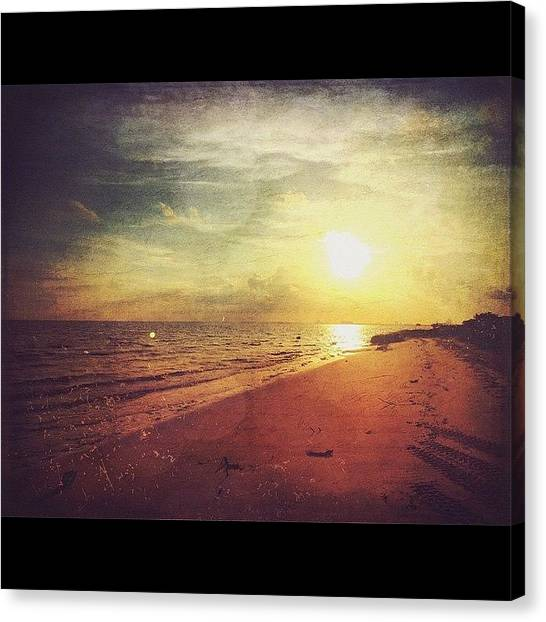 Beach Sunsets Canvas Print - Coastal Beauty#sunset #shore by Joan McCool