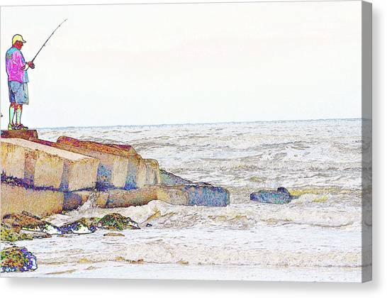 Coastal Fishing Canvas Print