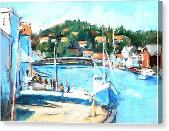 Coastal Fishing Village Canvas Print