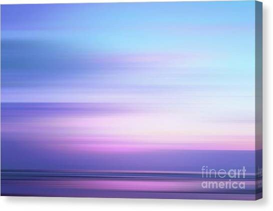 Abstract Seascape Canvas Print - Coastal Horizon 4 by Delphimages Photo Creations
