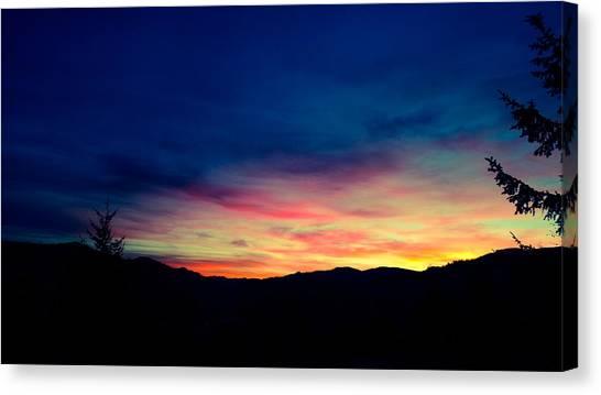 Coastal Mountain Sunrise Ix Canvas Print
