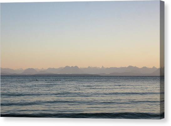 Coastal Mountains At Sunrise Canvas Print