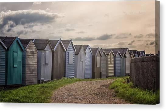 Beach Cabin Canvas Print - Coastal Path by Martin Newman