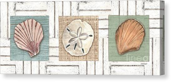 Oysters Canvas Print - Coastal Shells 1 by Debbie DeWitt