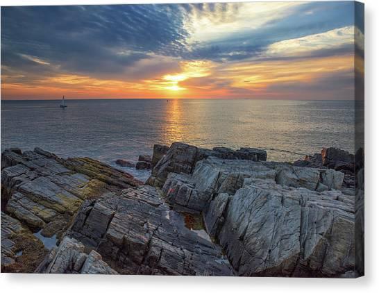 Coastal Sunrise On The Cliffs Canvas Print