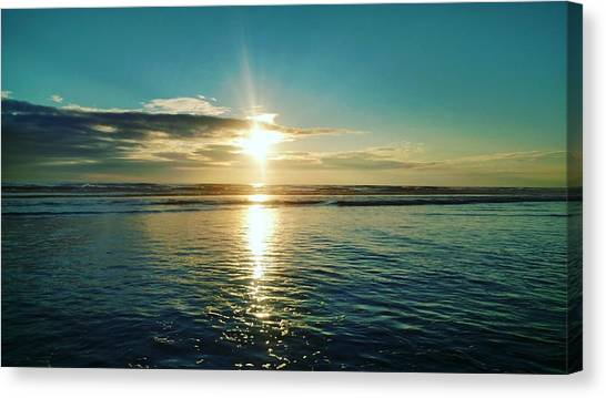 Coastal Sunset Canvas Print by Frederick Messner