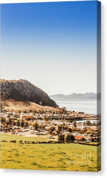 Geology Canvas Print - Coastal Tasmanian Town by Jorgo Photography - Wall Art Gallery