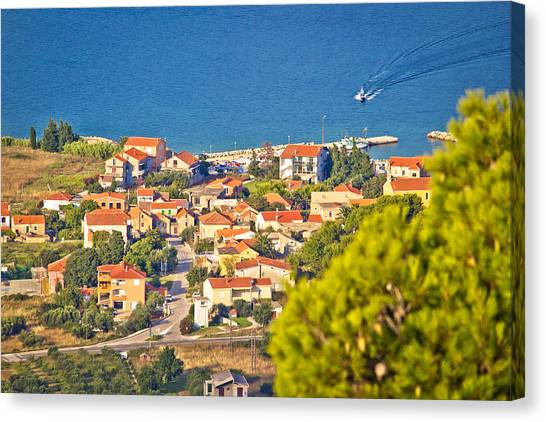 Coastal Village On Island Of Pasman Canvas Print