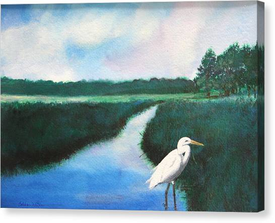 Coastal Wetlands Canvas Print