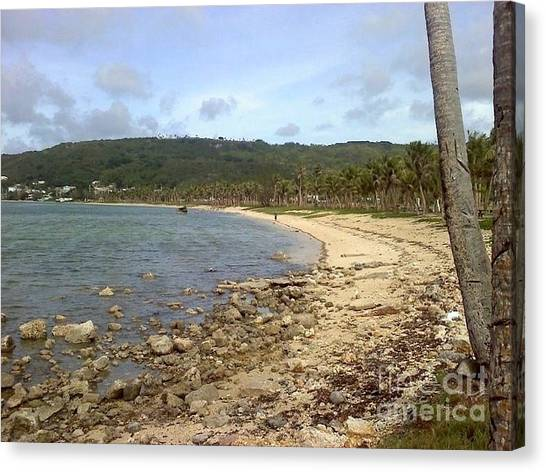 Coastline In Guam II Canvas Print