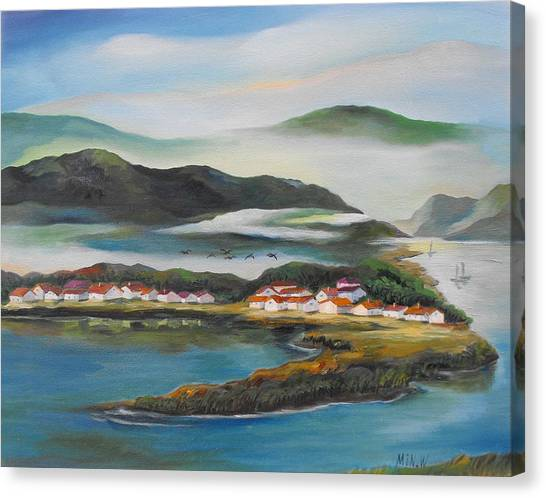 Coastline Canvas Print by Min Wang