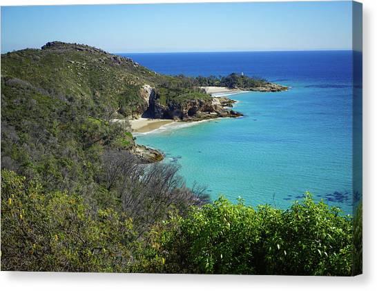 Coastline Views On Moreton Island Canvas Print