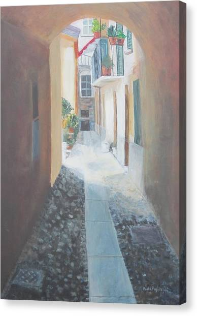 Cobblestone Alley Canvas Print