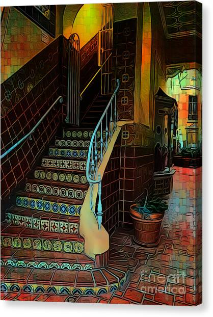 Cobblestone And Tile Canvas Print