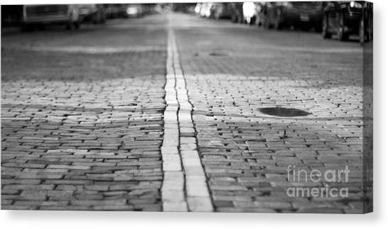Pavers Canvas Print - Cobblestone Brick Street by ELITE IMAGE photography By Chad McDermott