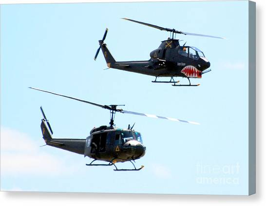 Cobra And Huey Canvas Print by Larry Keahey