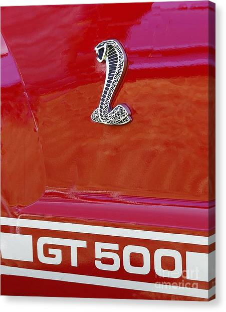 Cobra Gt 500 Emblem Canvas Print