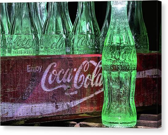 Coca-cola As Art Canvas Print