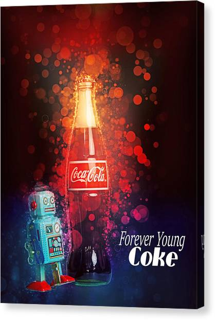 Coca-cola Forever Young 15 Canvas Print