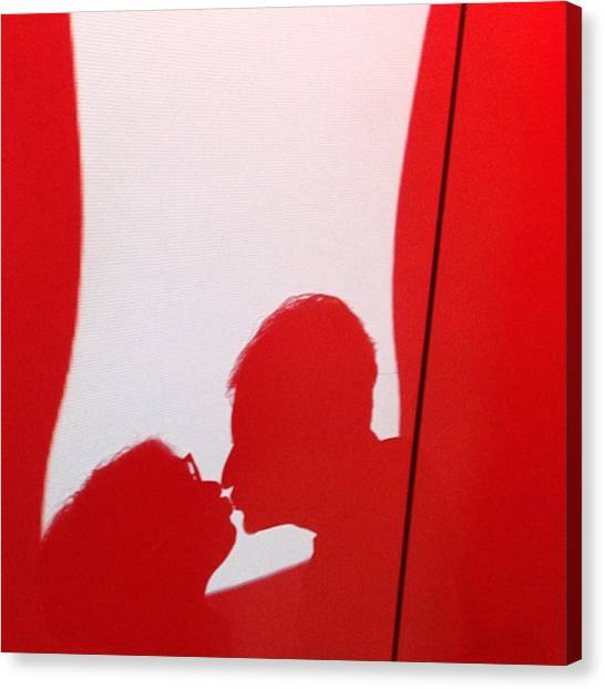 Face Canvas Print - Coca-cola Kiss  #photography by Juan Silva