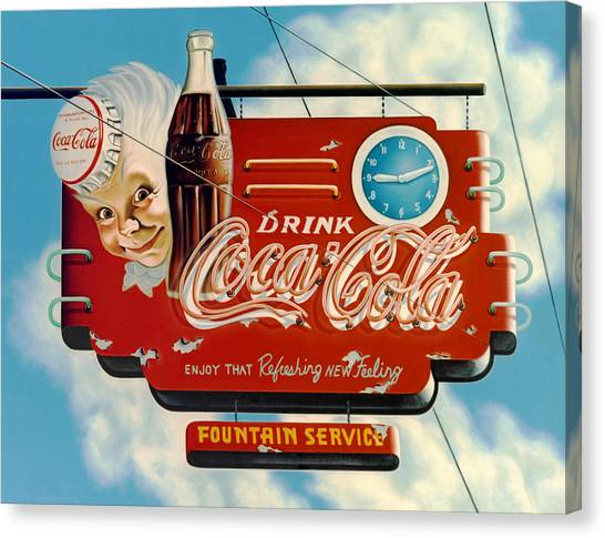 Soda Canvas Print - Coca Cola by Van Cordle