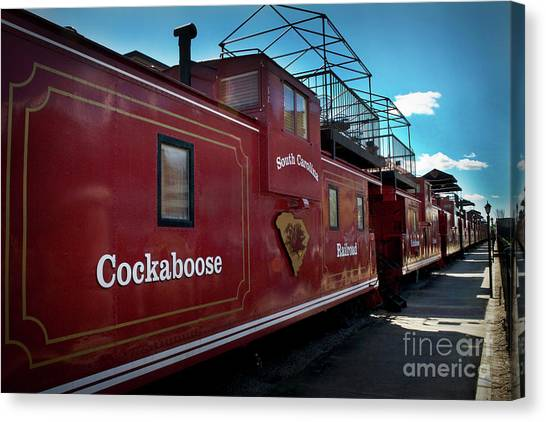 University Of South Carolina Canvas Print - Cockaboose Row by Skip Willits