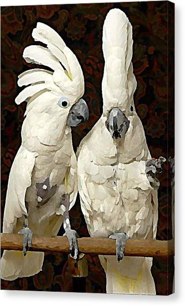 Canvas Print - Cockatoo Conversation by Raven Hannah