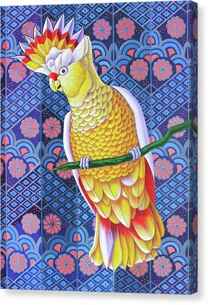 Cockatoos Canvas Print - Cockatoo by Jane Tattersfield