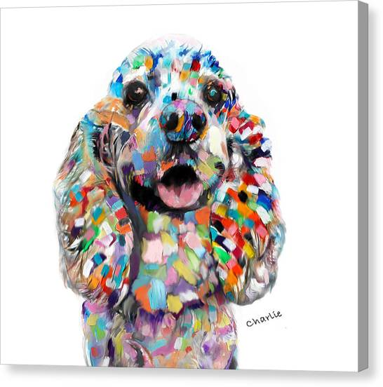 Cocker Spaniel Head Canvas Print