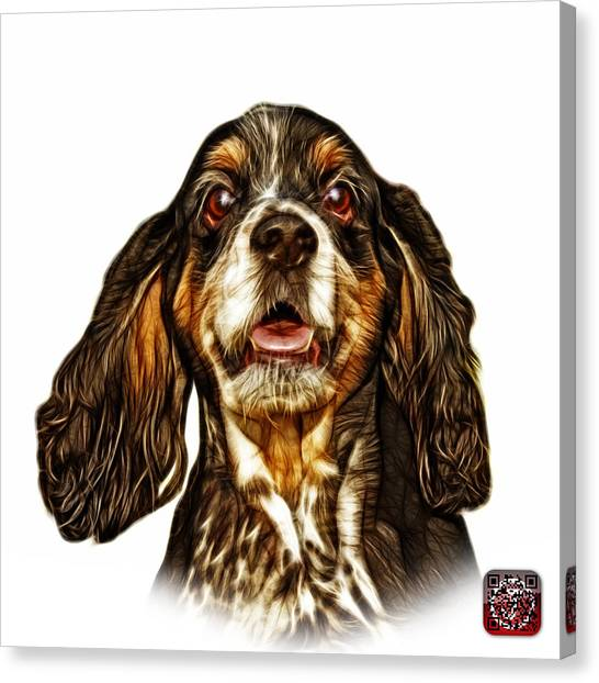 Cocker Spaniel Pop Art - 8249 - Wb Canvas Print