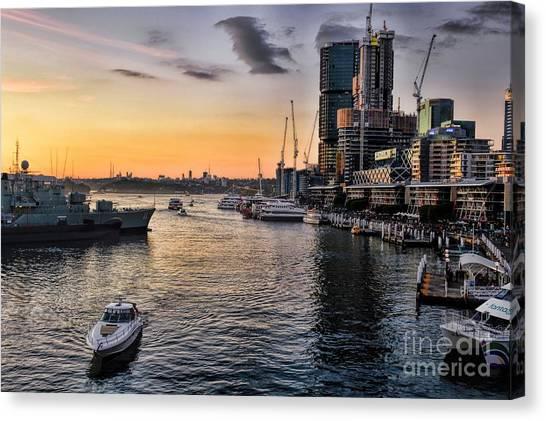 Cockle Bay Wharf Canvas Print