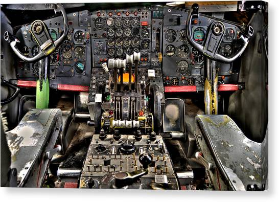 Cockpit Controls Hdr Canvas Print