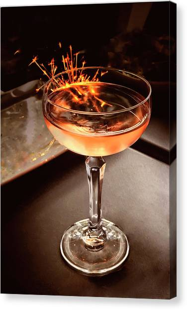 Cocktail Dazzle Canvas Print