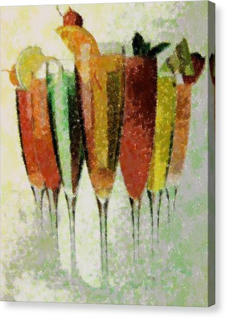 Cocktail Impression Canvas Print by Florene Welebny