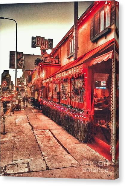 West Los Angeles Cocktail Row Canvas Print