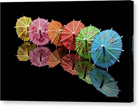 Cocktail Umbrellas IIi Canvas Print by Tom Mc Nemar