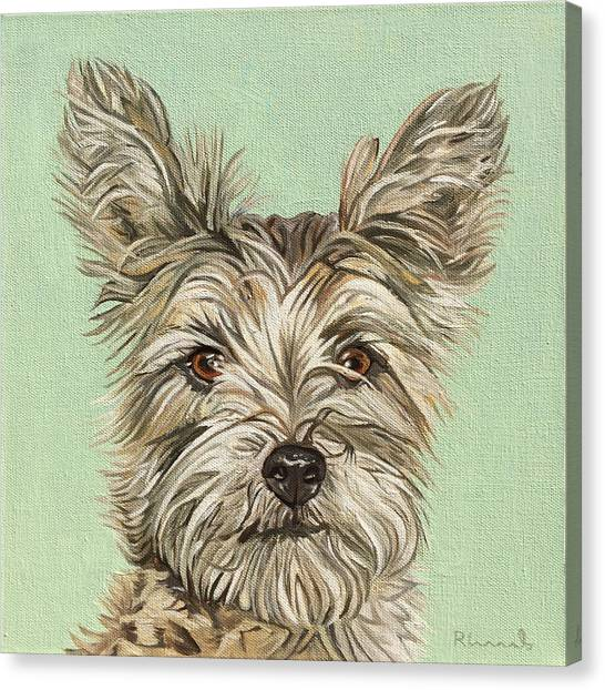 Canvas Print featuring the painting Coco II by Nathan Rhoads