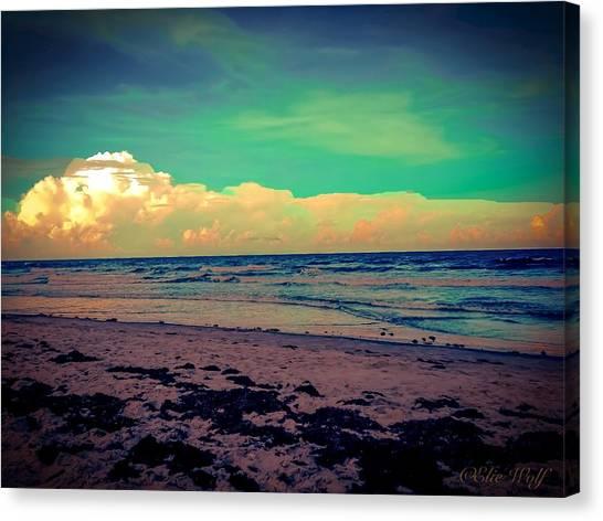 Cocoa Beach At Dusk Canvas Print