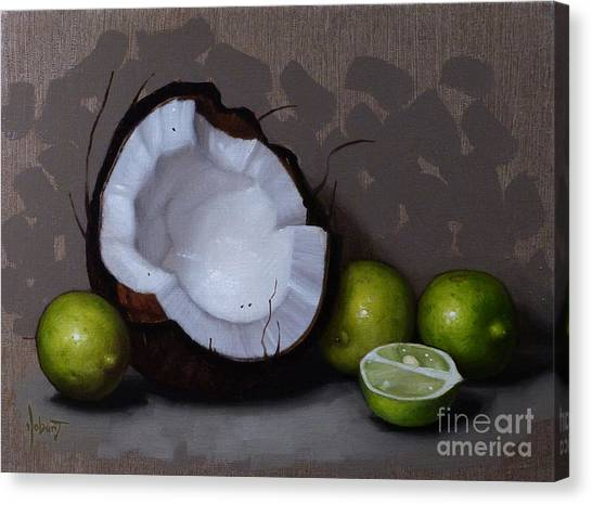 Coconut Canvas Print - Coconut And Key Limes V by Clinton Hobart