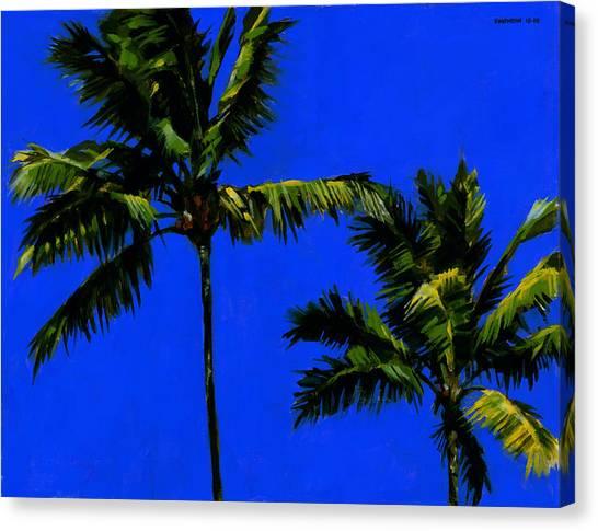 Coconut Canvas Print - Coconut Palms 3 by Douglas Simonson