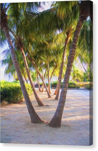 Coconut Palms Inn Beachfront Canvas Print